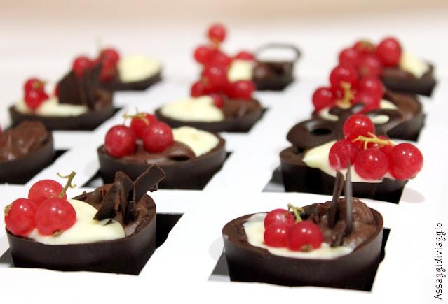 bicchierino di cioccolato alla doppia mousse
