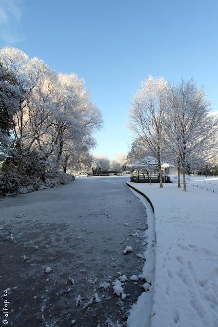 Neve al St. Stephen's green-Dublino