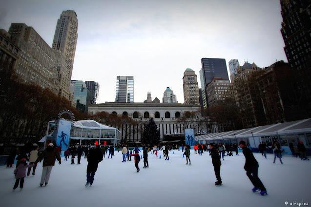 Pista di pattinaggio al Briant park-New York