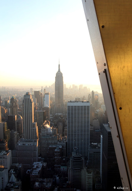 Empire state building visto dal Top of the Rock-New York