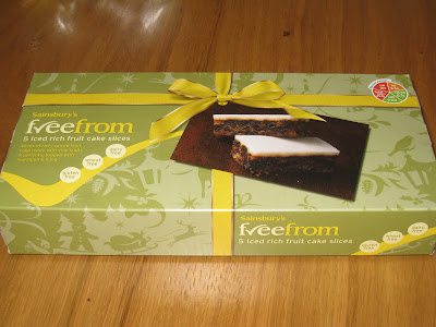 Sainsbury's freefrom Iced Rich Fruit Cake Slices