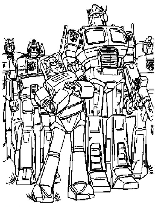 Transformers Characters Pictures Pages to Print Free