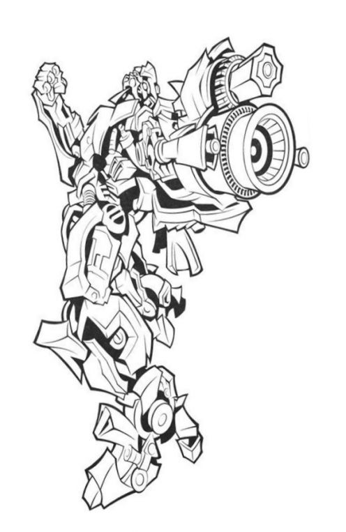 Printable Drawings For Coloring Transformers Characters Pictures Pages to Print Free