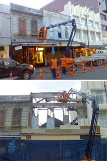 Demolition of 158 Cuba St
