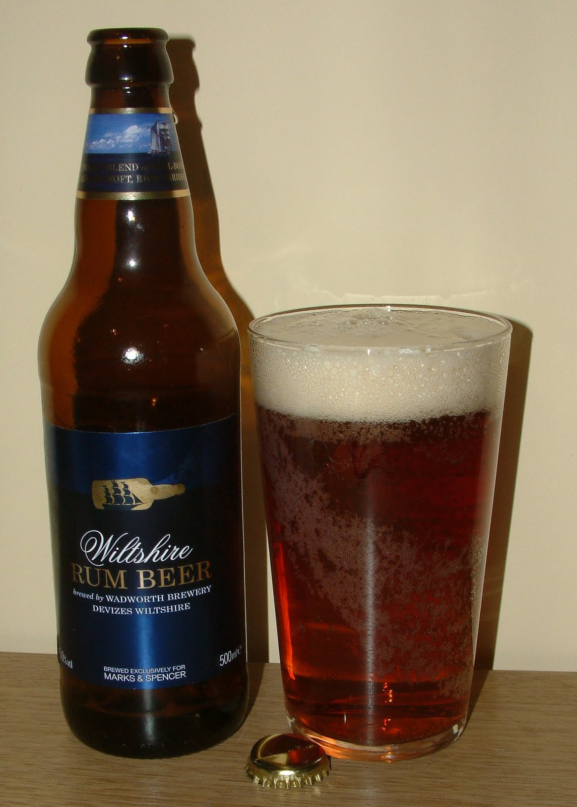 Marks Spencer Wiltshire Rum Beer Is A Dark Shade Of Amber Pouring Fizzily With Just A Subtle Aroma I Was Relieved Not To Have My Senses Aulted By