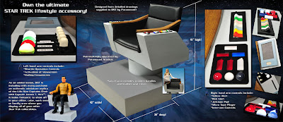 Star Trek Classic Captain Kirk Chair Replica