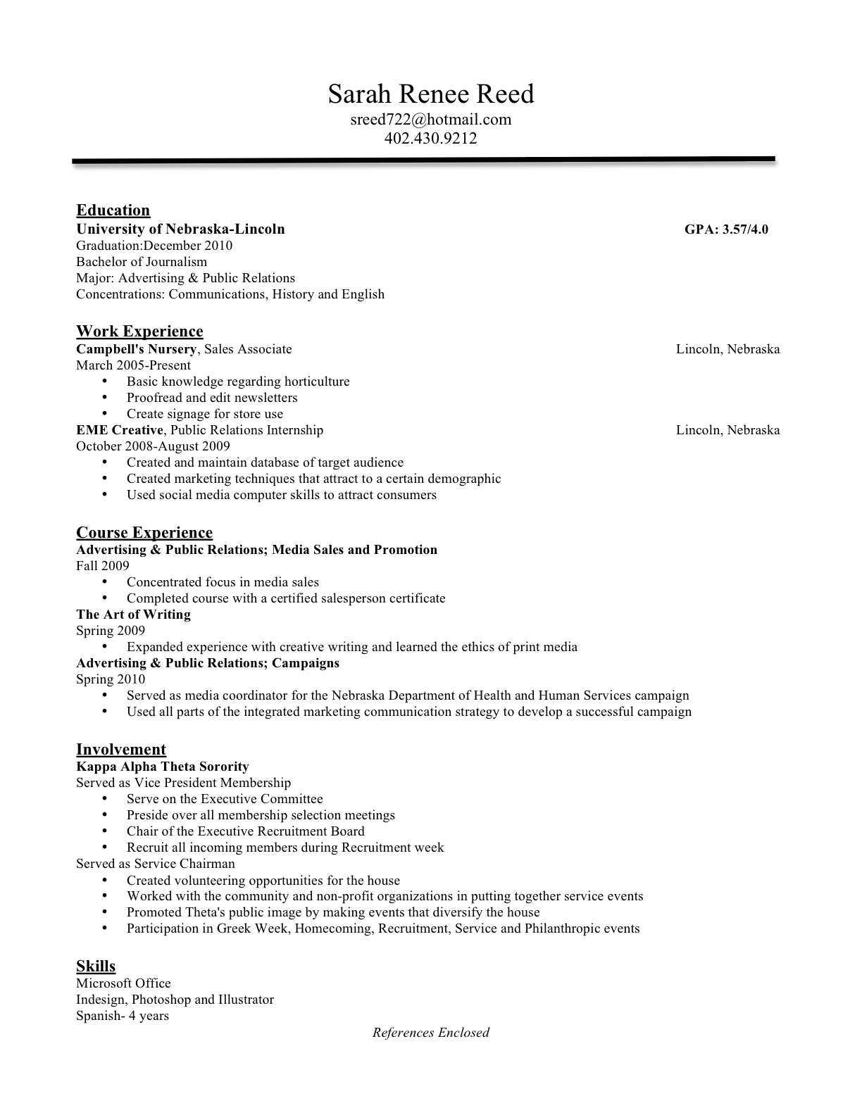 Resume Cover Letter Reference Sample SlideShare  References Resume
