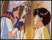 Primer encuentro entre Belldandy y Keiichi-san