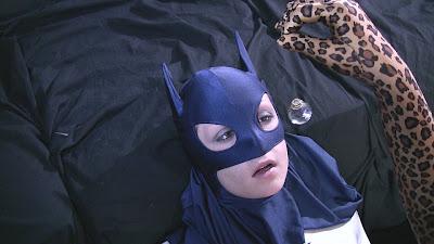 Super heroine hypnotized.