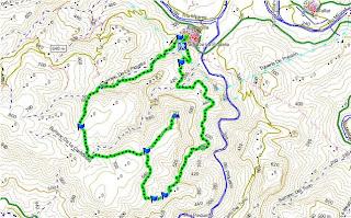 Mapa de la ruta Peña Saganta