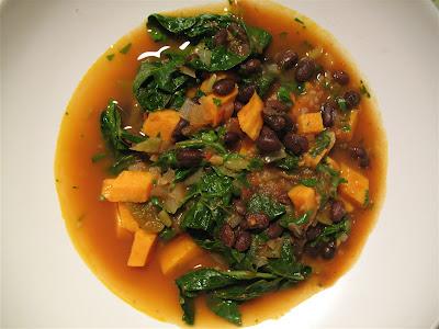 Albion Cooks: Black Bean & Sweet Potato Soup