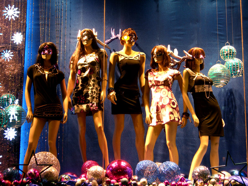 shop window display for new year at shoppers stop juhu mumbai