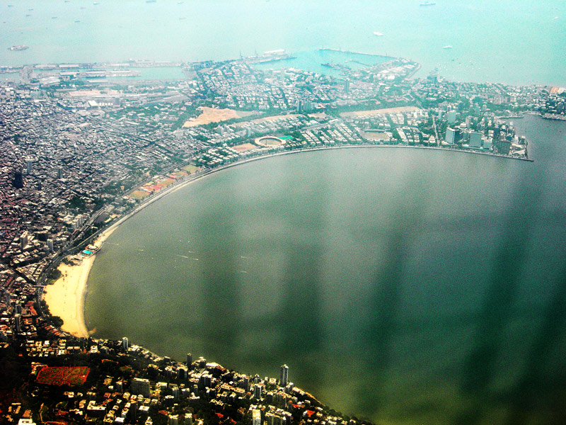 aerial photograph of south mumbai by kunal bhatia