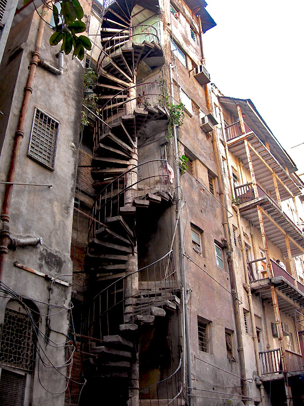 spiral fire staircase for building