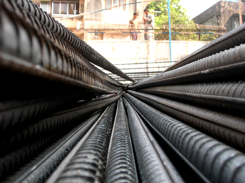 steel reinforcement rods used in construction