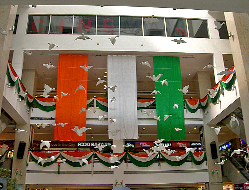 indian republic day decoration at infiniti mall mumbai