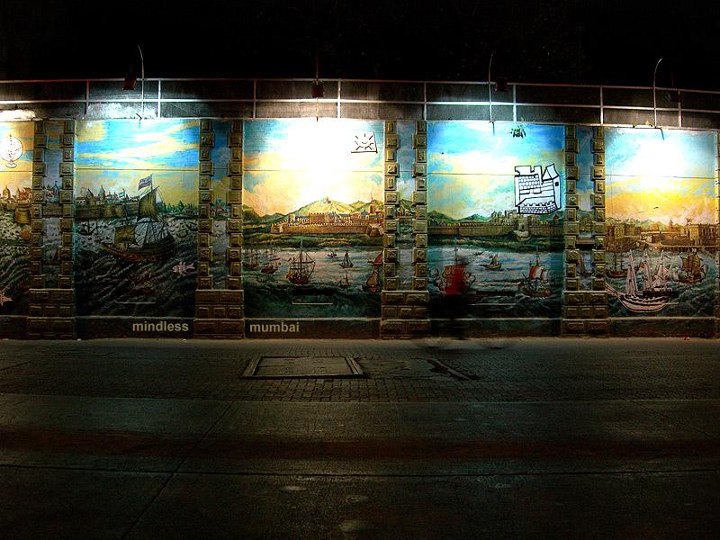 mumbai naval dockyard wall painting