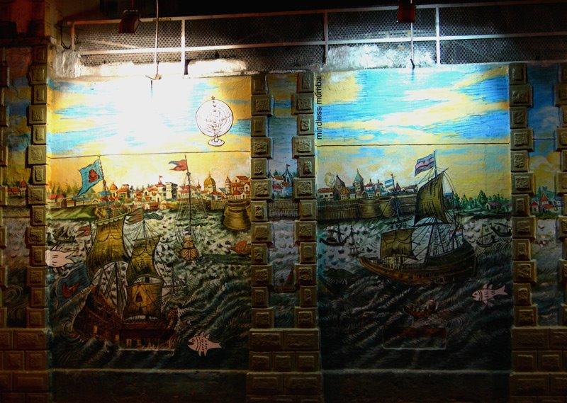 mumbai naval dockyard wall painting by kunal bhatia