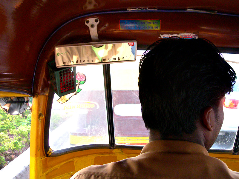 sign in a rickshaw by kunal bhatia