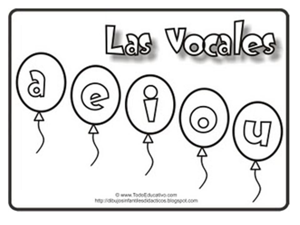 Dibujos Para Colorear De Preescolar: LAS VOCALES: PARA COLOREAR