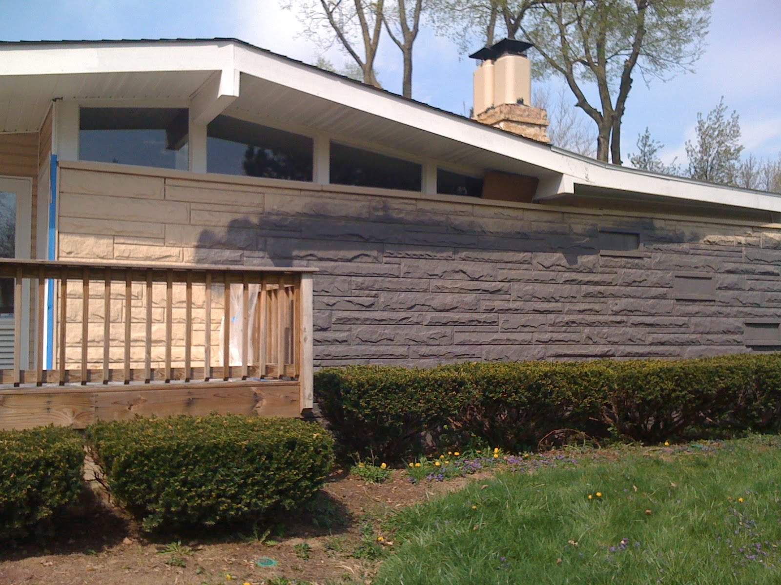 Beautiful Mid Century Modern Atomic Indy Exterior Painting With Brick House