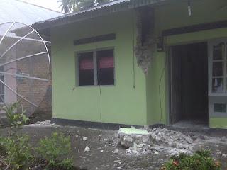 akibat gempa di sicincin, padang 2009