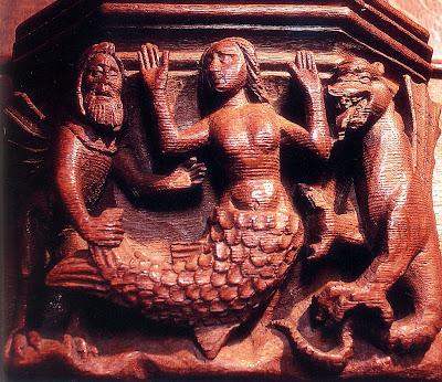misericórdia do cadeiral da catedral de Bristol