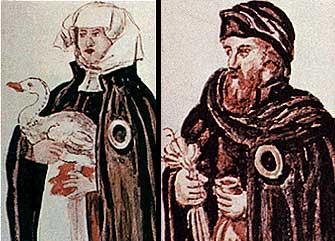 judeus com círuclo amarelo, Worms, séc. XVI