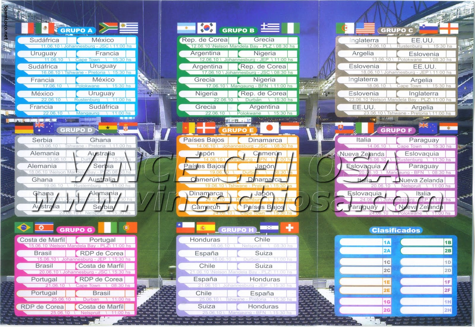 Calendario Partite Calcio.Guardare I Mondiali Di Calcio 2010 Gratis In Diretta
