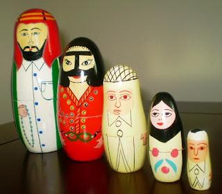 Arabian Stacking Dolls