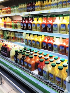 a variety of juices