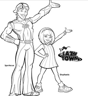 Lazy Town Splash Lazytown 180 S Print Coloring Pages