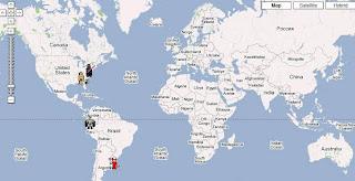 mi mapa de visitas (todavía bastante despoblado)