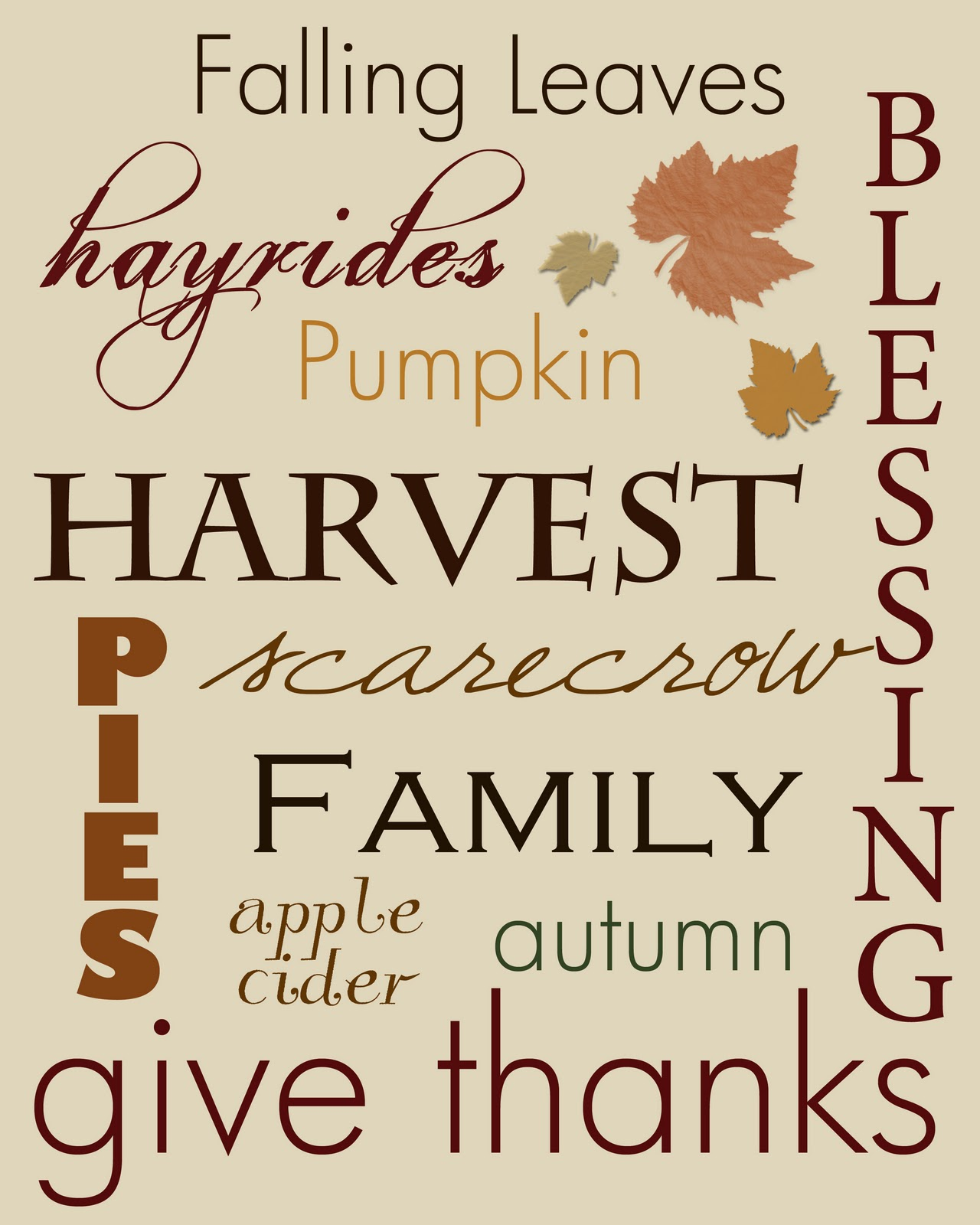Thankful For Family Quotes: Thanksgiving Subway Art Printables