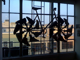 bike art at the Bottle Capp Gallery, San Francisco