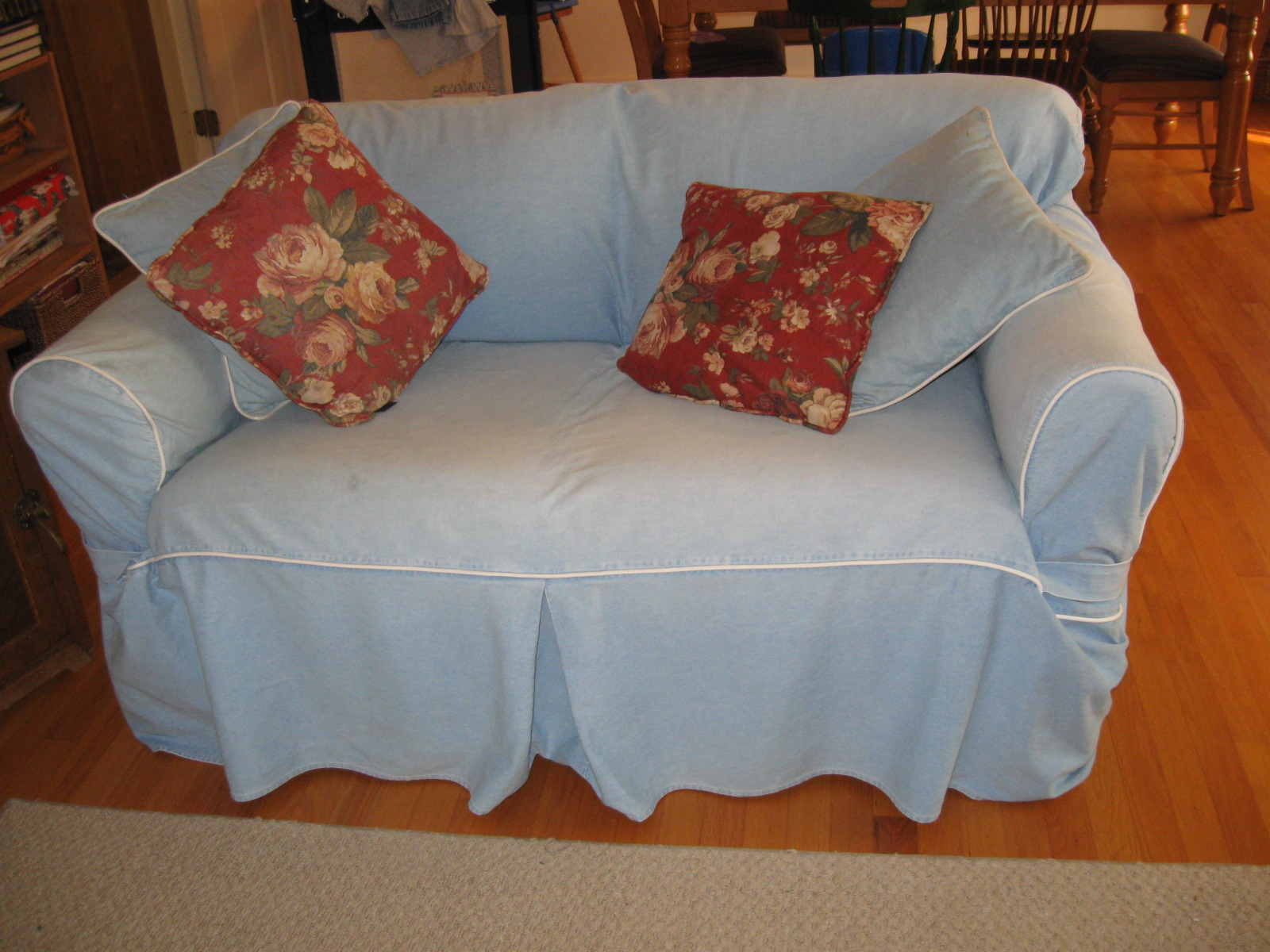Moving Sale: Broyhill Sleeper Sofa & Loveseat With Slipcovers