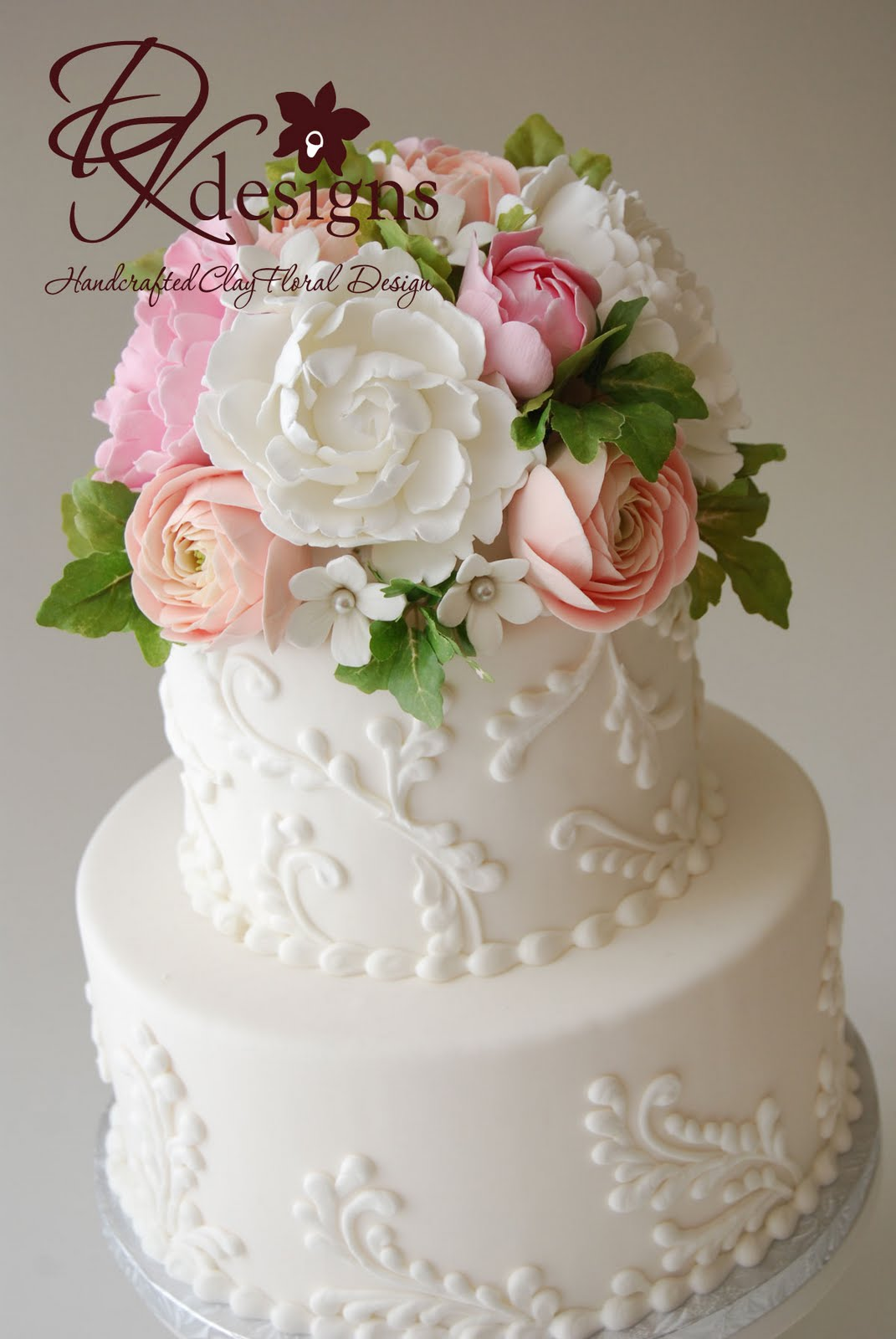 wedding cakes toppers flowers dk designs custom cake topper peonies ranunculus and 25733