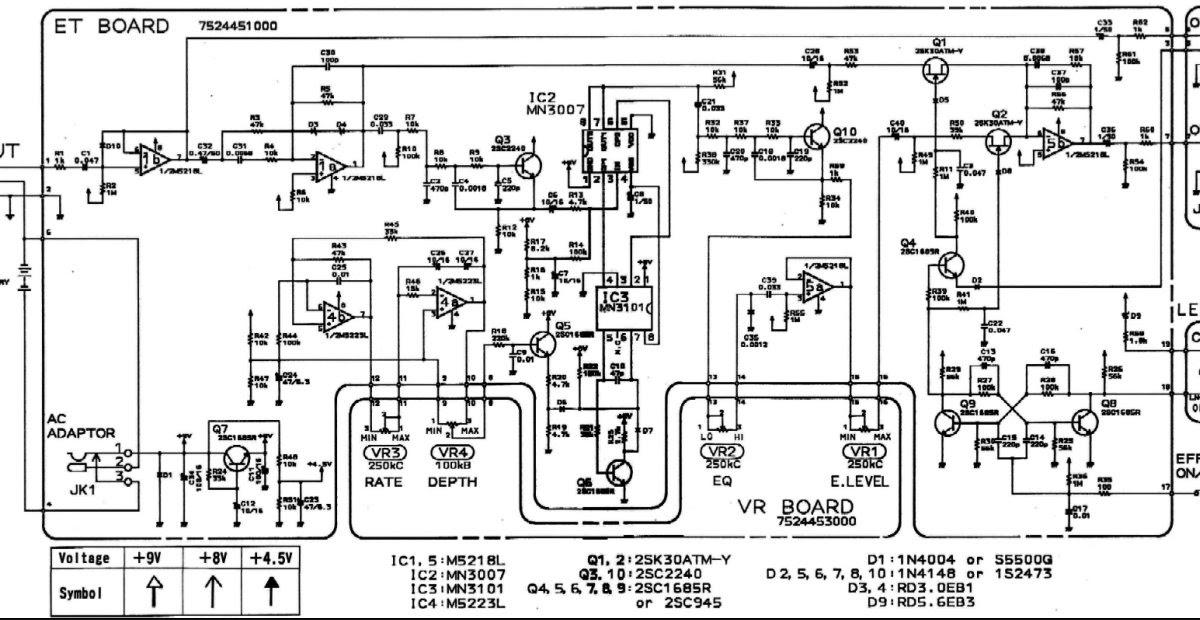 CH-1 Super Chorus Mods: Schematics