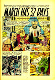 Page 1 of 'March Has 32 Days' from Mystery Tales #40 Comic