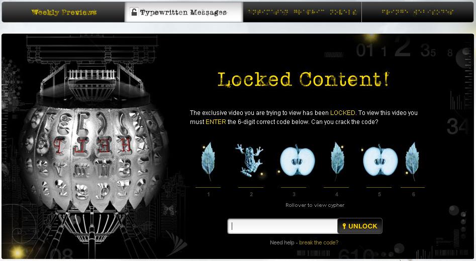 Fringe Now: Typewritten Messages ~ Fringe Television - Fan Site for