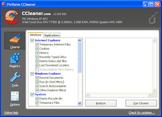 CCleaner Screenshot Before Scan