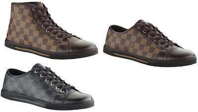 52c08fda03b0 ... collection Punchy Sneakers pour hommes, des sneakers montantes et  basses avec le logo LV sur le coté ou le fameux imprimé Damier.