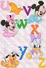 Abecedario Disney en punto de cruz