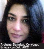 Archana Dalmiya, Convener, Grievances Cell, AICC