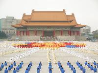 Mémorial de chang Kai Shek - Rassemblement de Falun Da Fa