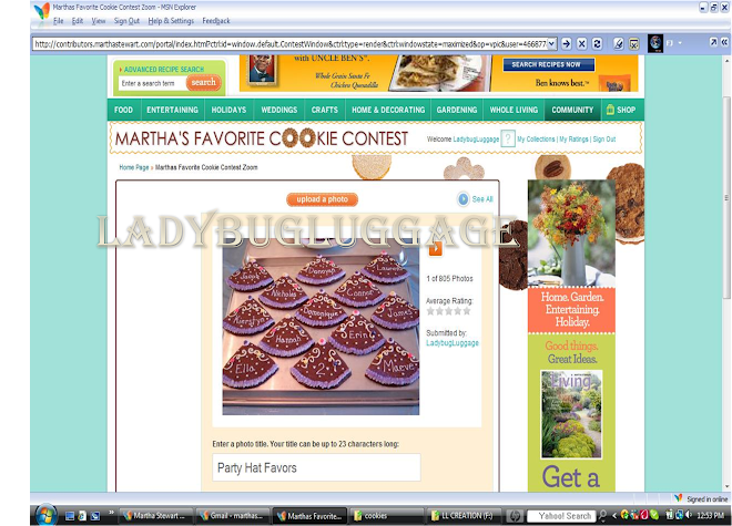 My cookie enteries into Martha Stewart's Contest