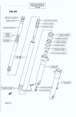 Suzuki VX800 Restoration Project: VX800 Front Shock Parts