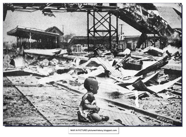 child cries nanking railway station destroyed