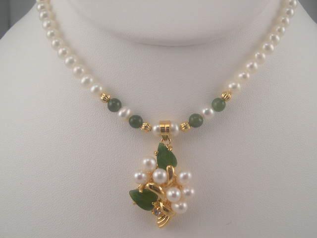 Pearl Gold Pendant Necklaces Models Designs Sets