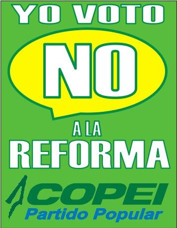 Campaña contra la Reforma Constitucional